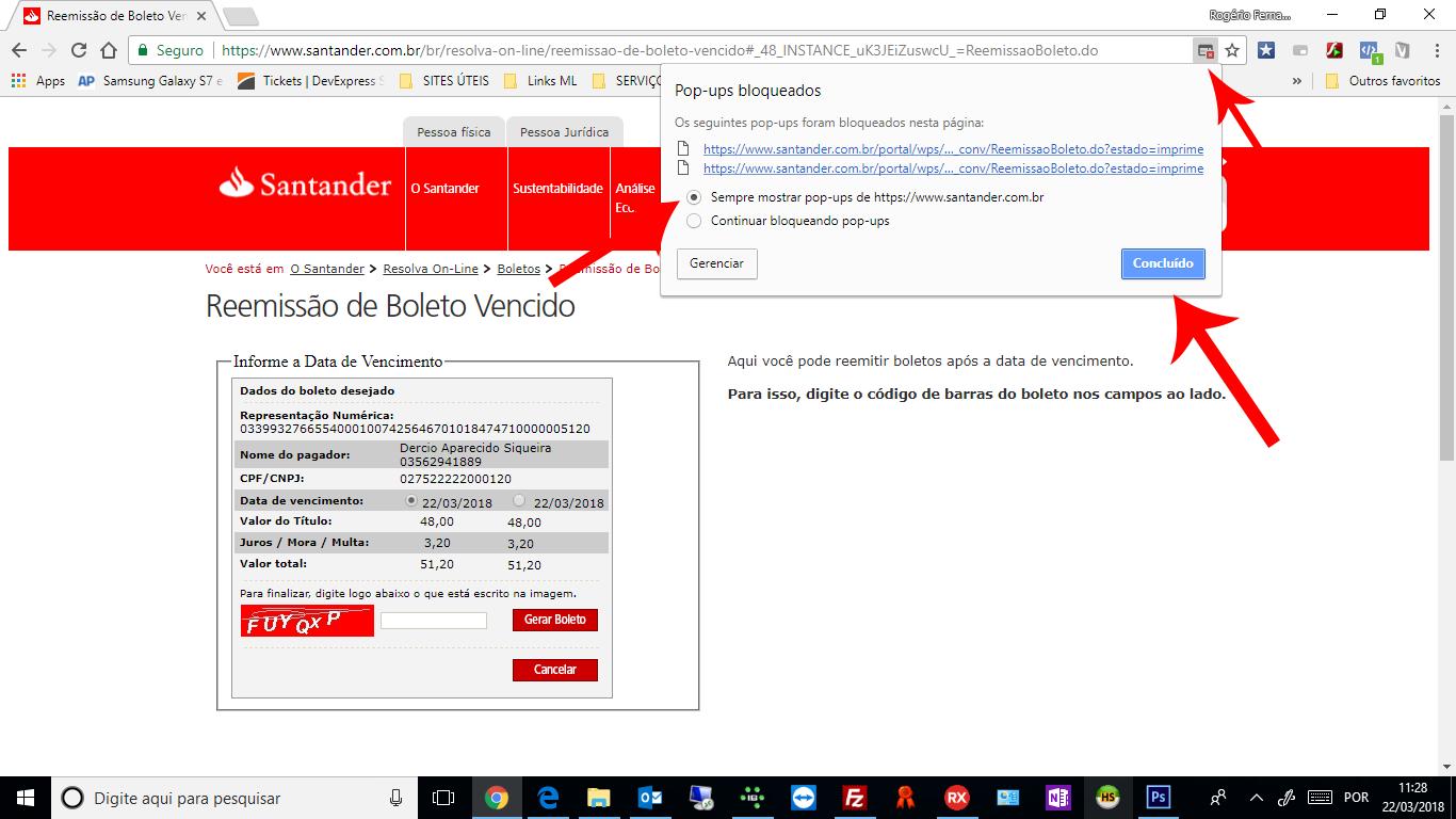 Como emitir a egunda via de boletos Santander